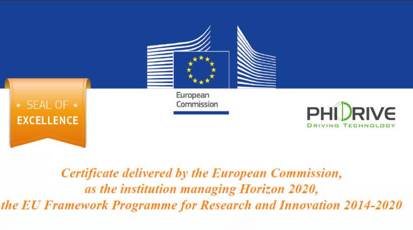 Certificato di eccellenza della Commissione Europea